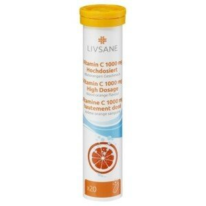 LIVSANE Vitamín C 1000 mg vysoká dávka 20 šumivých tabliet