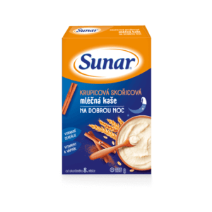 SUNAR kašička na dobrú noc mliečna škoricová 225 g