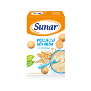 SUNAR mliečna multicereálna kašička piškótová 225 g