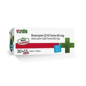 VIRDE Koenzým Q10 forte 60 mg 30 + 15 tabliet ZADARMO