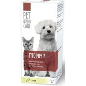 PET HEALTH CARE FYTO PIPETA pre malých psov do 10 kg a mačky 15ml