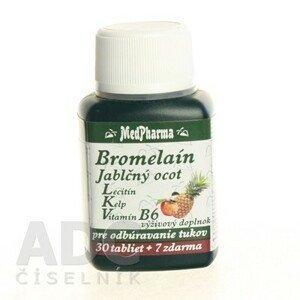 MEDPHARMA Bromelain 300 mg + jablčný ocot + lecitín 30 + 7 tabliet ZADARMO