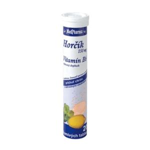 MEDPHARMA Horčík 150 mg + B6 20 šumivých tabliet