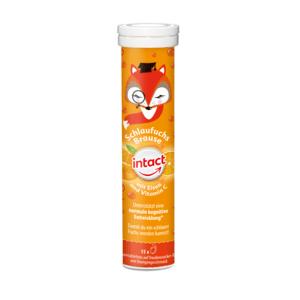 INTACT Múdra líška hroznový cukor, železo a vitamín C 15 šumivých tabliet