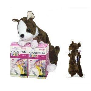 DELTA Colostrum sirup jahoda kids duo 2 x 125 ml + darček plyšový psík