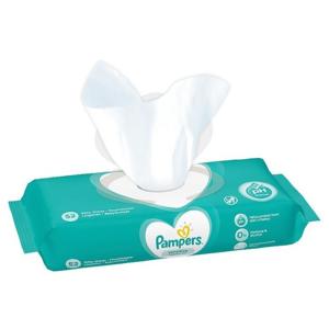 PAMPERS Baby Wipes Sensitive vlhčené obrúsky 52 kusov