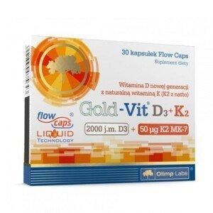 GOLD-Vit D3+K2 30 kapsúl