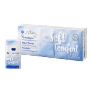 LIVSANE Soft comfort hygienické vreckovky 10 x 10 kusov