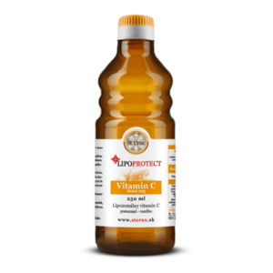 LIPOPROTECT Vitamín C s príchuťou pomaranč - vanilka 250 ml