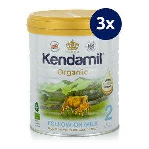 KENDAMIL BIO organické plnotučné pokračovacie mlieko 2 DHA+ 800 g - balenie 3 ks