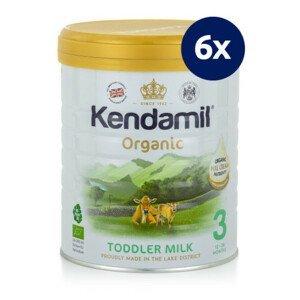 KENDAMIL BIO organické plnotučné batoľacie mlieko 3 DHA+ 800 g - balenie 6 ks