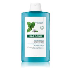 KLORANE Detoxikačný šampón s mätou vodnou pre vlasy vystavené znečistenému ovzdušiu 400 ml