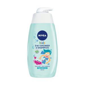NIVEA Kids 2in1 detský sprchový gél boy s jablkovou vôňou 500 ml