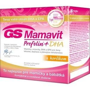 GS Mamavit Prefolin+DHA 30 kapsúl+30 tabliet.