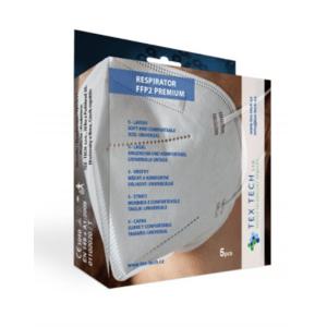 TEX-TECH premium FFP2 respirátor 5ks