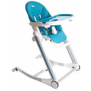 Bo Jungle Jedálenská stolička B-High Chair, modrá