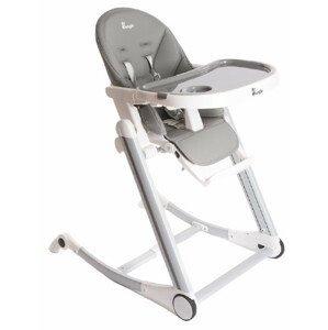 Bo Jungle Jedálenská stolička B-High Chair, sivá