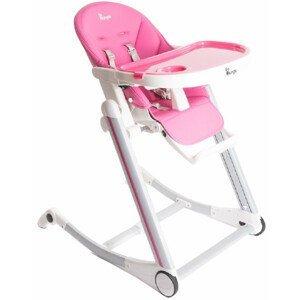 Bo Jungle Jedálenská stolička B-High Chair, ružová