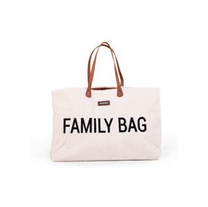 Childhome Cestovný taška Family Bag Teddy Off White