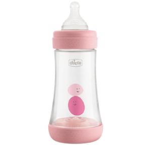 Chicco Fľaša dojčenská Perfect 5 silikón 240ml Dievča