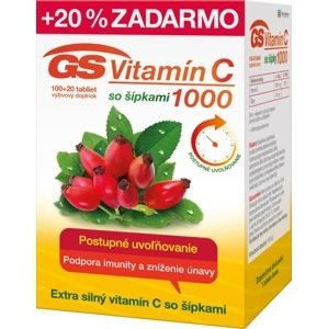 GS Vitamín C 1000 so šípkami 100+20 tabliet
