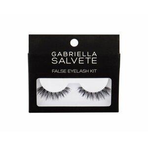 Gabriella Salvete Umelé mihalníce so špeciálnym lepidlom False eyelash kit 1ks