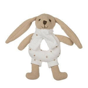 Canpol babies Zajačik Bunny s hrkálkou béžový