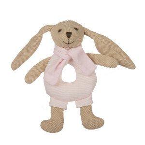 Canpol babies Zajačik Bunny s hrkálkou ružový