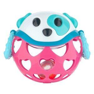 Canpol babies interaktívna hračka s hrkálkou ružový psík 1ks