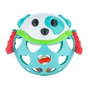 Canpol babies interaktívna hračka s hrkálkou tyrkysový psík 1ks