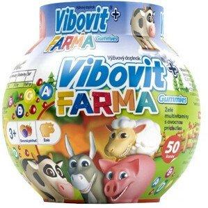 Vibovit + Farma Gummies želé s ovocnou príchuťou 50ks