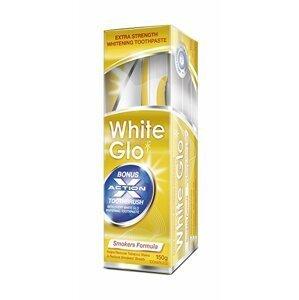 White Glo zubná pasta pre fajčiarov 150g + kefka a medzizubné kefky zadarmo