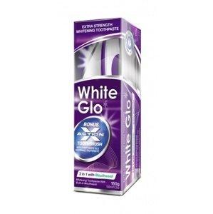 White Glo zubná pasta 2v1 150g + kefka a medzizubné kefky zadarmo