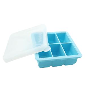 Haakaa Silikónová forma na mrazenie jedla a materského mlieka, modrá 6x70ml