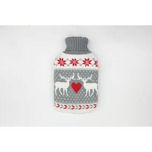 Depan Termofor ohrievacia fľaša s pleteným obalom Vianočný sob 2L