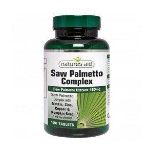 Natures Aid Saw Palmetto Complex s extractor so žihľavy a tekvice + zinok, meď a aminokyseliny 120ks