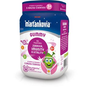 WALMARK Marťankovia Gummy Vitamíny s Bazou čiernou želatínové tablety 50ks