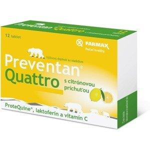 FARMAX Preventan Quattro s citrónovou príchuťou 12 tbl