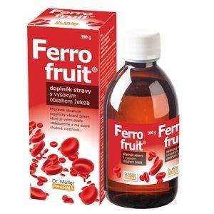 Dr. Müller FERRO FRUIT Sirup s vysokým obsahom železa 1x300 g