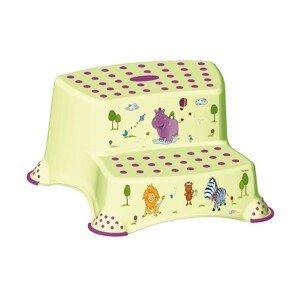 """Keeeper Dvojstupienok k WC / umývadlu """"Hippo"""" zelená"""