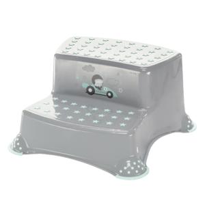 ZOPA Dvojstupienok k WC/umývadlu Racer, Grey/Mint