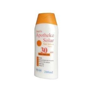 JutaVit Apotheke Solar Sun lotion 30 SPF opaľovacie mlieko 200 ml