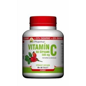 BIO Pharma Vitamín C so šípkami 500mg 90+30 tabliet