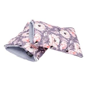 Eseco Rukavice Grey flowers