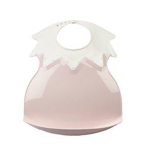 Thermobaby Plastový bryndák s límcom, Powder Pink