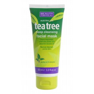 BeautyFormulas Tea tree Hĺbkovo čistiaca maska na pleť 100ml