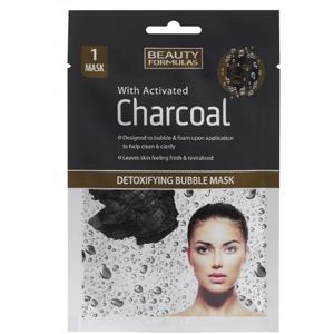 BeautyFormulas Detoxikačná bublinková maska s aktívnym uhlím 1ks