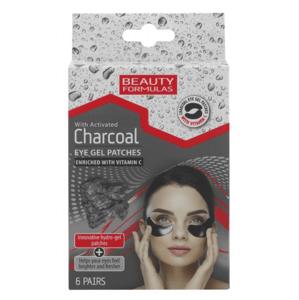 BeautyFormulas Gélové náplasti pod oči s aktívnym uhlím 6 párov