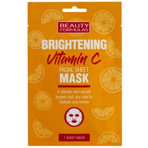 Beauty Formulas Rozjasňujúci pleťová maska s vitamínom C 1ks
