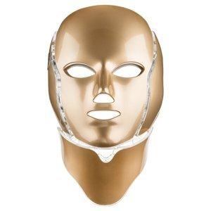 Palsar7 Ošetrujúca LED maska na tvár a krk zlatá 1ks